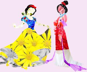 disney, mulan, and snow white image