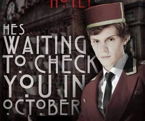 hotel, evan peters, and american horror story image