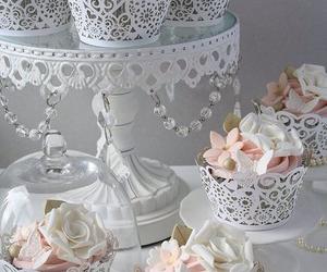 cupcake, wedding, and flowers image