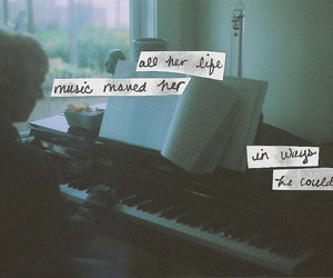 music, piano, and text image