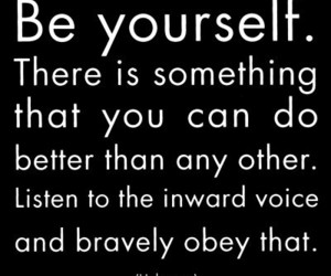 quote, be yourself, and text image