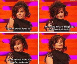 harry potter, helena bonham carter, and funny image