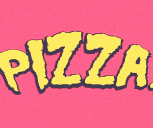 pizza, food, and pink image