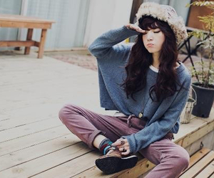beautiful, typical teenager, and boho image