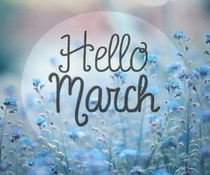 march, hello, and spring image
