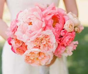 flowers, bouquet, and bride image