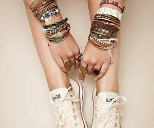 bracelet, fashion, and converse image