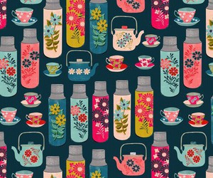 wallpaper and tea image