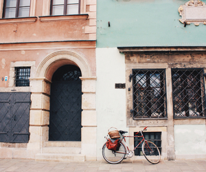 architecture, bike, and buildings image