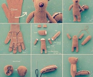 diy, gloves, and squirrel image