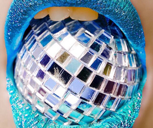 disco, blue, and mouth image
