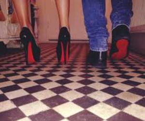 girl, couple, and heels image