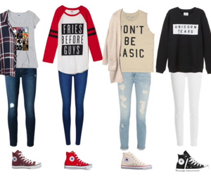 converse, high tops, and Polyvore image