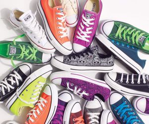 converse, colorful, and shoes image