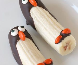 banana, food, and penguin image