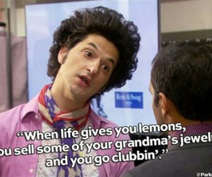 clubbing, parks and rec, and tom haverford image