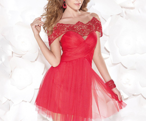 red prom dress, sexy prom dress, and new prom dress image