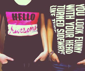 funny, girls, and shirts image