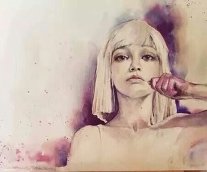 chandelier, pintura, and maddie image
