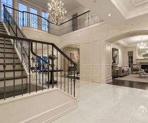 chandelier, design, and foyer image