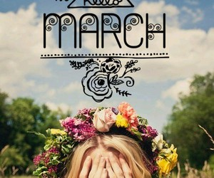 calendar, floral, and march image