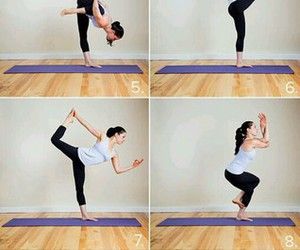 yoga, exercise, and fitness image