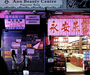 asia, city, and neon image