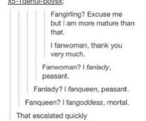 fandom, tumblr, and fangirl image