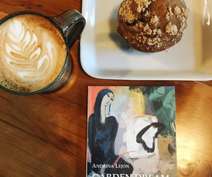 book, coffee, and latte image