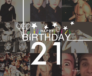 21, hbd, and justin image