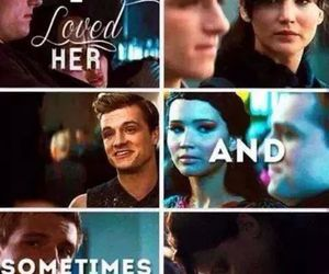 love, katniss, and hunger games image