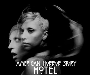 black, Lady gaga, and ahs image