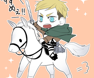 anime, chibi, and Erwin image