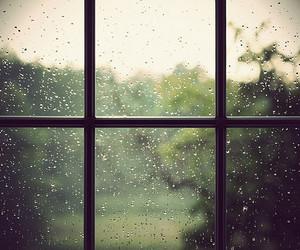 rain, window, and photography image