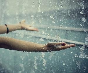free, rain, and hands image