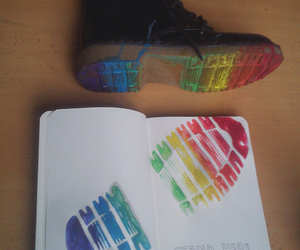 wreck this journal and rainbow image