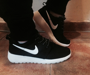black and white, fashion, and new shoes image