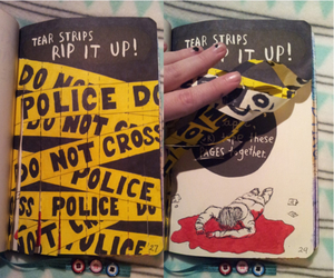 wreck this journal and police image