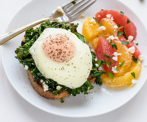 breakfast, kale, and eggs image