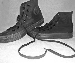 black, converse, and skate image