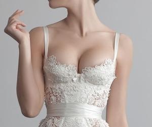 white, dress, and pretty image