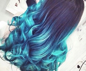 blue hair, fashion, and color image