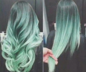 beautiful, hair style, and ombre image