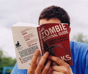 book, zombie, and boy image