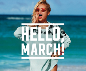march, beach, and pink image