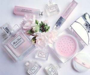 pink, perfume, and makeup image