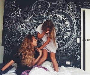 bedroom, girls, and best friends image