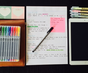 study, girly, and highlighters image