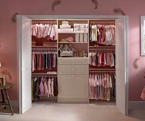 closet, pink, and clothes image