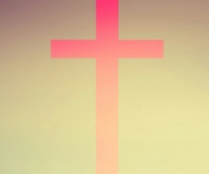 cross, pink, and wallpaper image